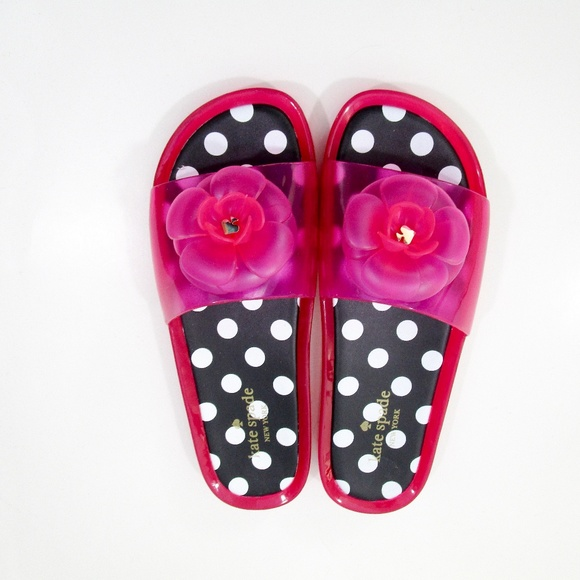 3a3ad0b30 kate spade Shoes - Kate Spade Splash Pink Swirl Jelly Slide Size 9